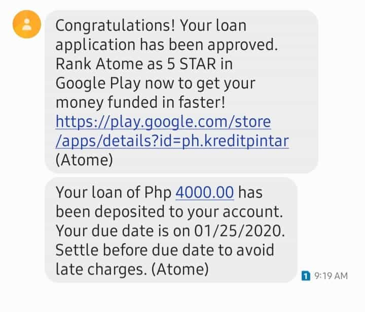 Atome Credit second loan, pre-approved loan, Atome credit fast cash loan in 2020 review