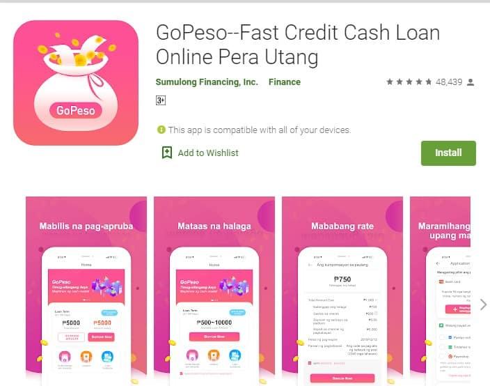 GoPeso Fast cash loan online