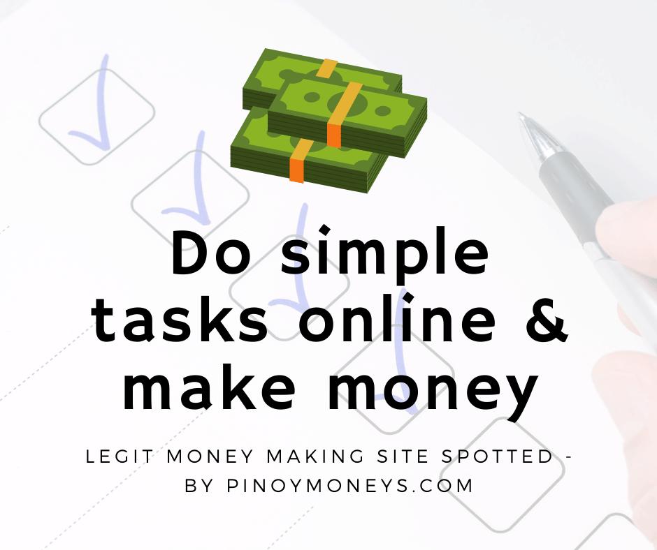 Do simple tasks online and make money