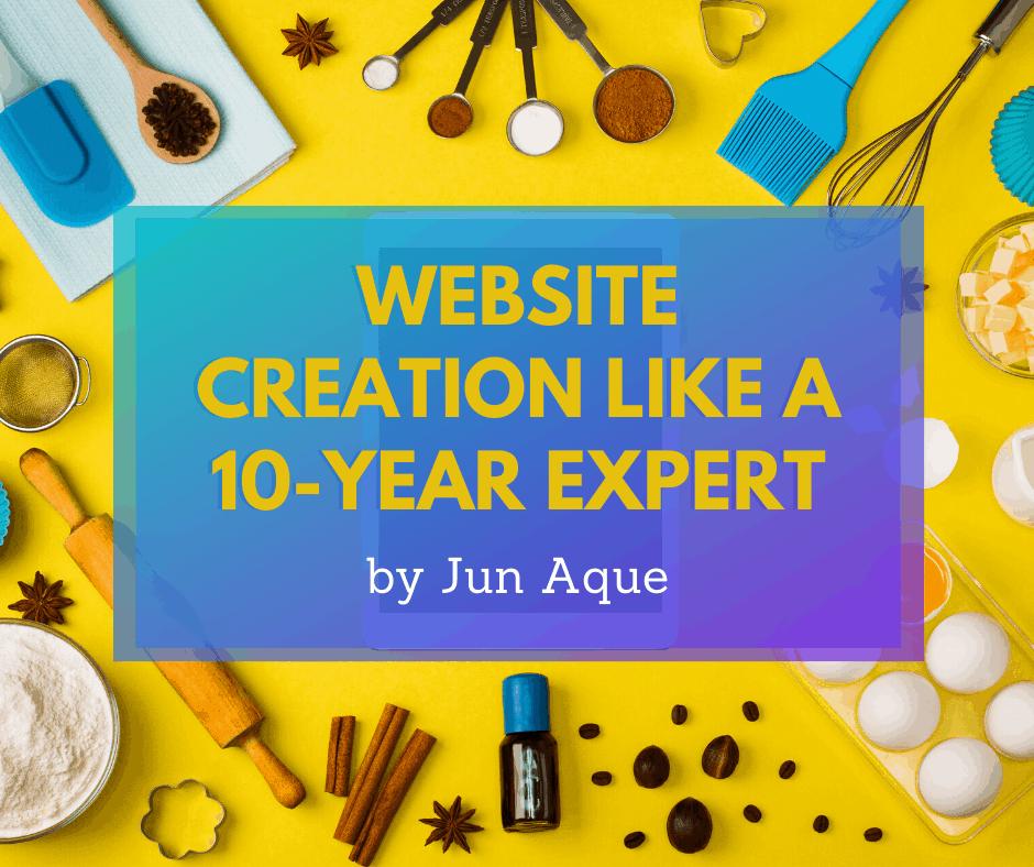 Website creation like a 10-year expert