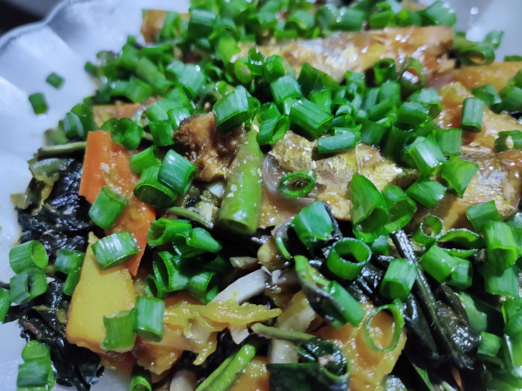 Nutritious talbos ng kamote salad to boost the immune system to help prepare the body for possible COVID-19 infection